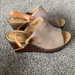 BOC Wedge slide mule women's shoe 7 NWOT